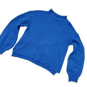 Royal Blue Boho Oversized Sweater Medium